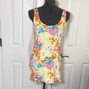 NWOT Ecote Tropical Beach Cover up Mini Dress SzXS